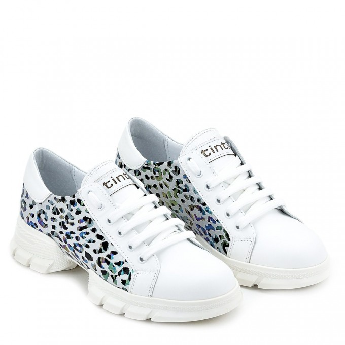 Дамски кецове Geri white leopard