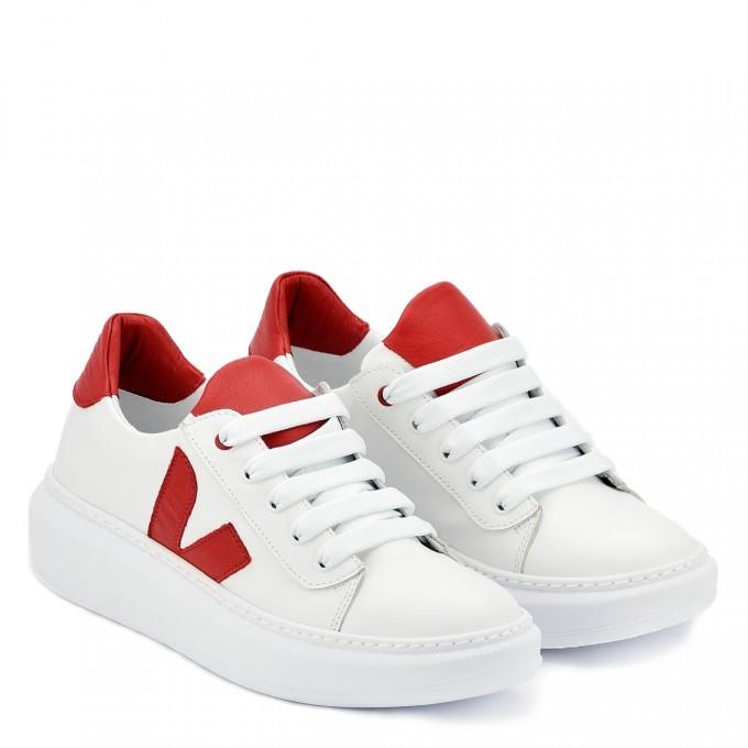Дамски кецове Iva white red
