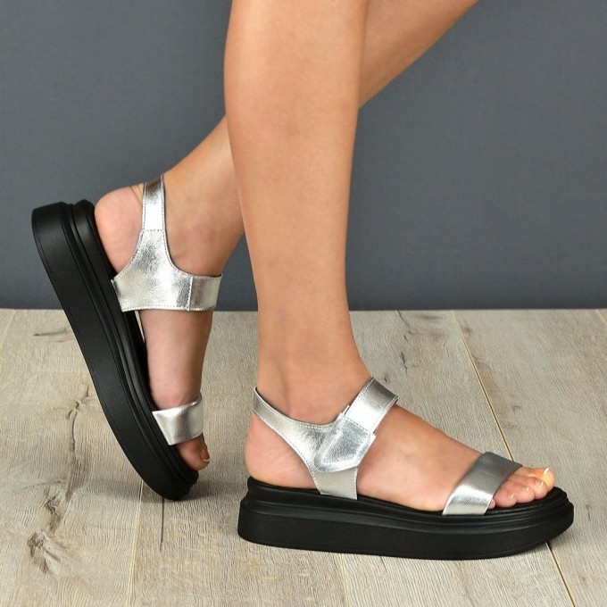 Дамски сандали Mila silver
